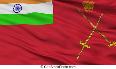 Army Indian Flag Closeup Seamless Loop - Army Indian Flag,...