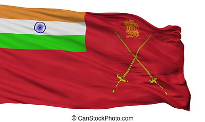 Army Indian Flag Isolated Seamless Loop - Army Indian Flag,...