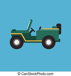 Army Jeep icon | Set of great flat icons for transportation, public transit, car and much more.
