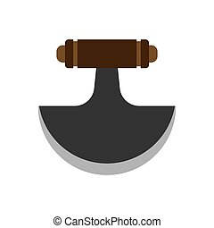 Army knife weapon equipment steel handle dagger. Soldier pocket vector tool icon