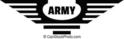 Army logo, simple style