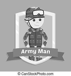 Army man in emblem