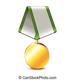 Army medal isolated on white vector