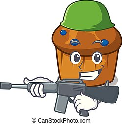 Army mufin blueberry character cartoon