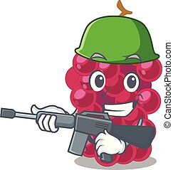 Army mulberry fruit on a cartoon table vector illustration