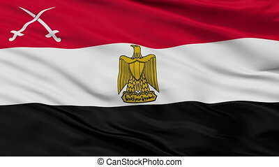 Army Of Egypt Flag Closeup Seamless Loop