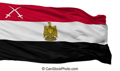 Army Of Egypt Flag Isolated Seamless Loop