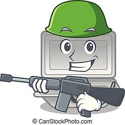 Army open styrofoam in the cartoon shape