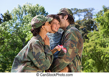 Army parents reunited with their son