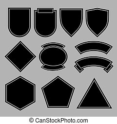 Army patches or military badges template design