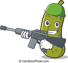 Army pickle character cartoon style