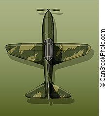 Army plane on green