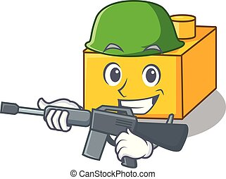 Army plastic building blocks cartoon on toy