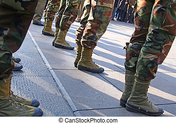 Army Platoon during a parade in Italy