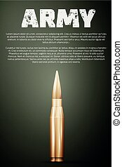 Army poster. Graphic template