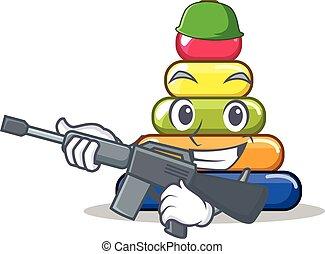 Army pyramid ring character cartoon