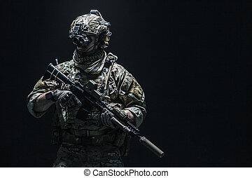 Army Ranger in field Uniforms - Army soldier in Combat...
