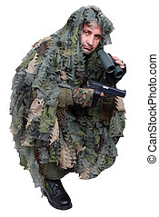 recon in camouflage uniform