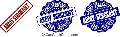 ARMY SERGEANT Scratched Stamp Seals