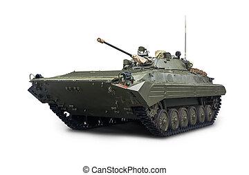army., service, infanteri, bmp-2, stridande, isolerat, bakgrund, fordon, rysk, vit