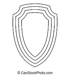 Army shield icon, outline style