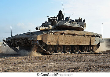 Army Soldier and Tank