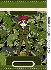 Army Soldier on Camouflage