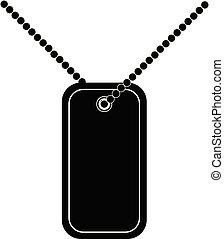 Army soldiers badge tag medallion metal