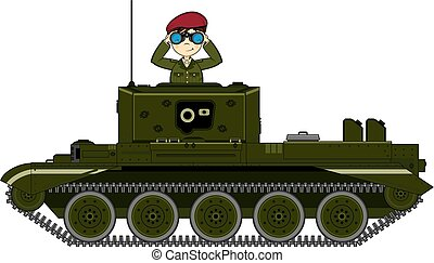Army Soldiers Tank Scene