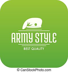 Army style icon green vector isolated on white background