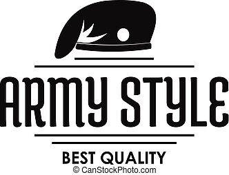 Army style logo, simple black style - Army style logo....