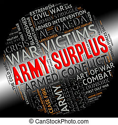 Army Surplus Represents Military Service And Armies