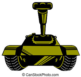 An army tank in retro style.