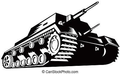 Army Tank Retro - An army tank in retro style.