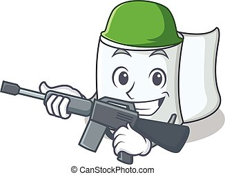 Army tissue character cartoon style