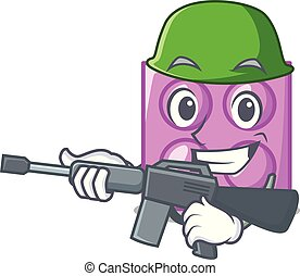 Army toy brick character cartoon