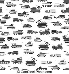 Army transport seamles pattern design - military transportation background