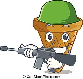 Army wafer cone character cartoon
