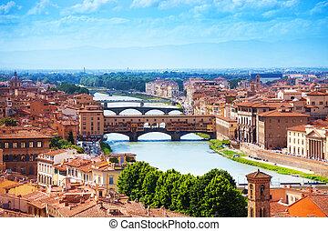 arno río, y, ponte vecchio