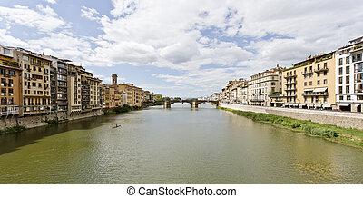Arno River and Santa Trinita Bridge