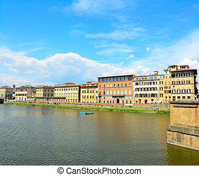 Arno river on a sunny day in Florence