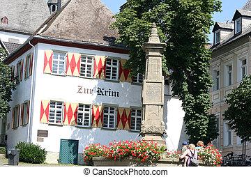 Arnsberg old city house with fountain