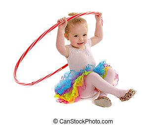 aro de hula, diminuto, bailarín, trago, estudiante