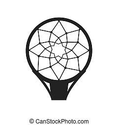 aro, rede, basquetebol
