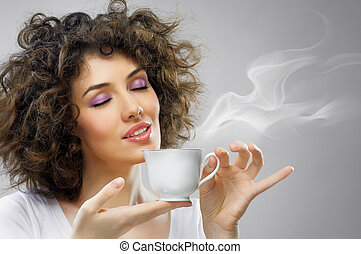 aromático, café