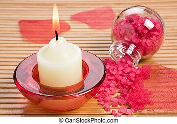Aroma candle and bath salt
