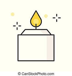aroma candle, filled outline icon