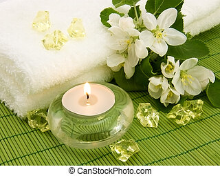 Aroma candle for aromatherapy - Body relax composition with ...