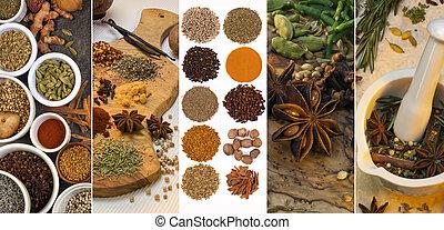 aroma, -, cottura, condimento, spezie