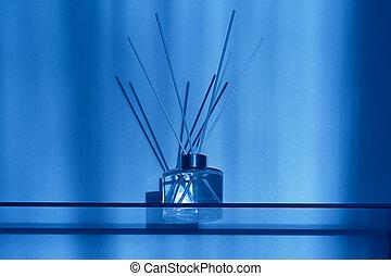 aroma, interior, palos, estilo, palos., difusor, botella, moderno, aromatherapy